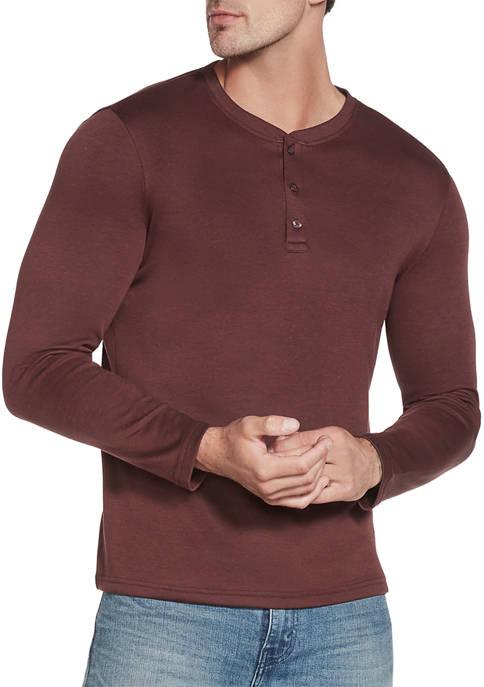 Skechers Mens Go Knit Henley Piqué Long Sleeve
