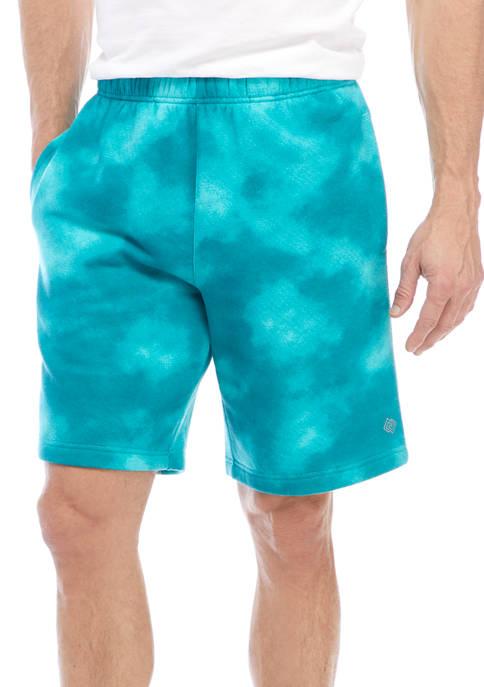 Tie Dye Pocketed Fleece Shorts