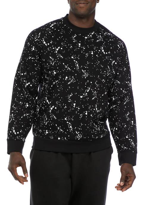 Big & Tall Printed Fleece Crew Neck Sweatshirt