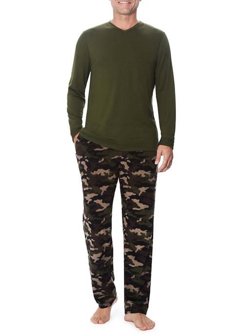 Cuddl Duds® Cabin Fleece Pajama Set