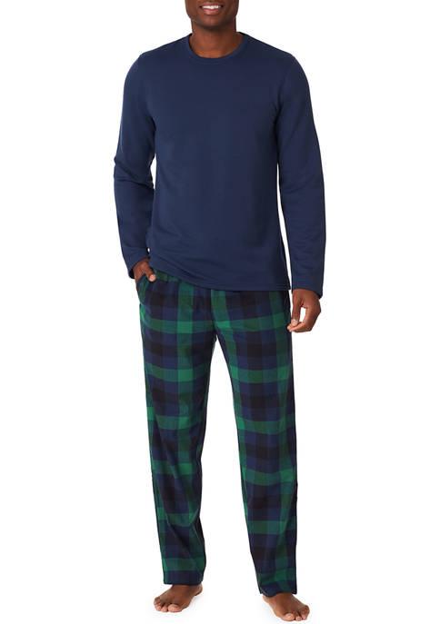 Mens Cozy Lodge Notch Collar Pajama Set