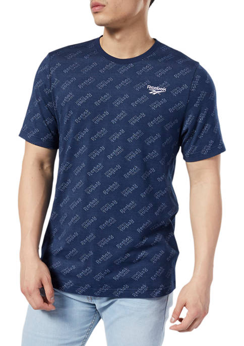 Reebok Short Sleeve Logo Print T-Shirt