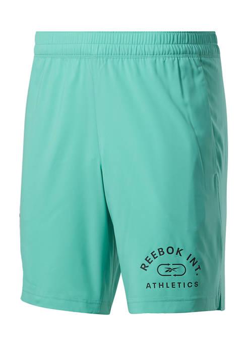 Reebok Varsity Logo Woven Shorts
