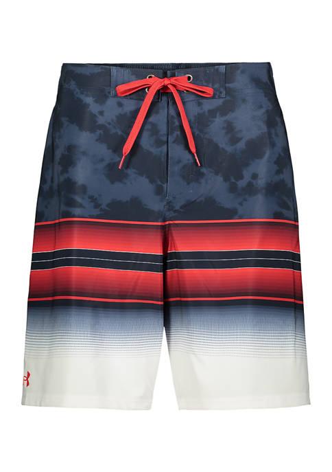 Under Armour® Tie Dye Gradient Stripe Board Shorts