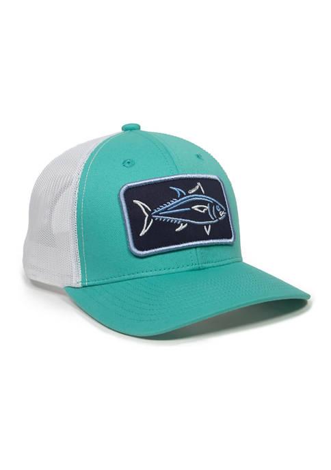Ocean + Coast® Aqua Fish Patch Hat