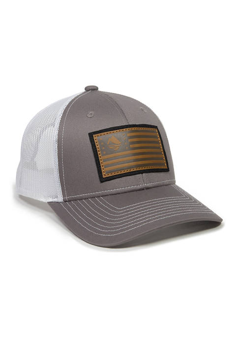 Ocean & Coast® Leather American Flag Patch Hat