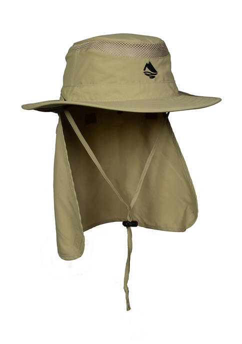 Khaki Boonie with Flap Hat