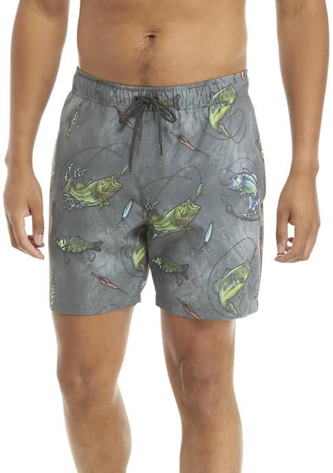 Reel Em In Pool Swim Shorts