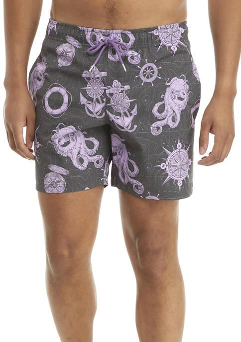 Octopus Compass Pool Swim Shorts