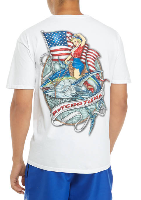 Mens American Cowgirl Graphic T-Shirt