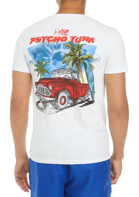 Mens Short Sleeve Sun Graphic T-Shirt
