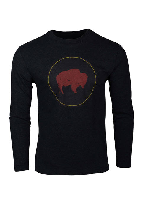 Bison Patch Long Sleeve T-Shirt