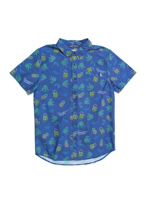 Party Pants Neon Button Down Shirt