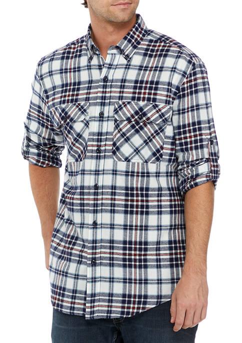 Ocean + Coast® Mens Long Sleeve Flannel Shirt