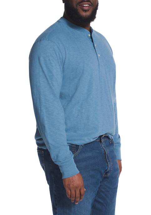Chaps Big & Tall Long Sleeve Henley Shirt