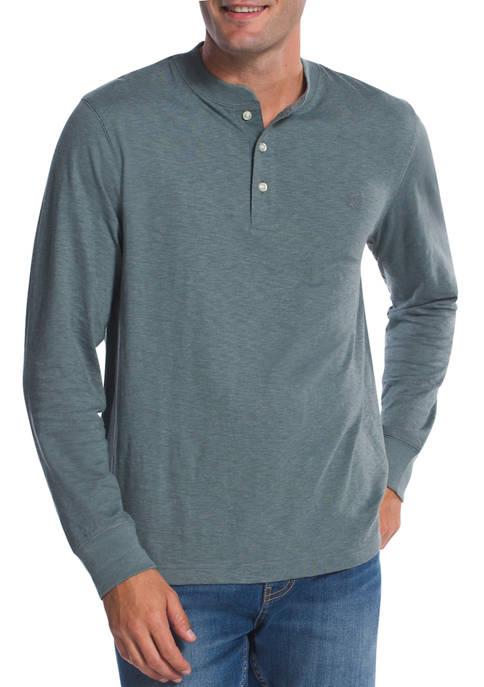Chaps Mens Long Sleeve Henley Shirt