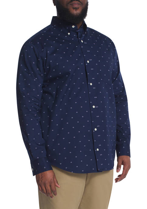 Chaps Big & Tall Long Sleeve Stretch Easy