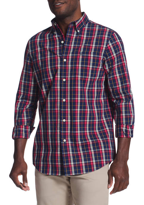 Chaps Long Sleeve Stretch Easy Care Button Down