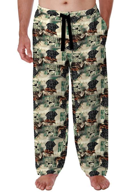 Mens Black Flannel Pajama Pants