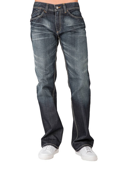 Mid Rise Relaxed Bootcut Premium Denim 5 Pocket Jeans