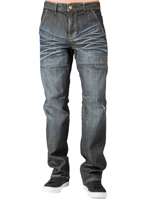 Relaxed Straight Premium 5 Pocket Jeans