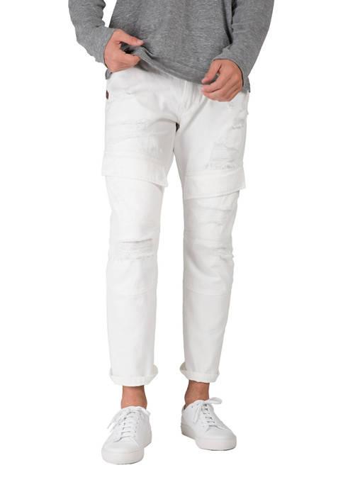 Slim Straight Denim Cargo Jeans