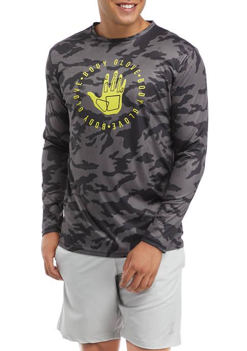 Body Glove® Mens Long Sleeve Rash Guard Shirt