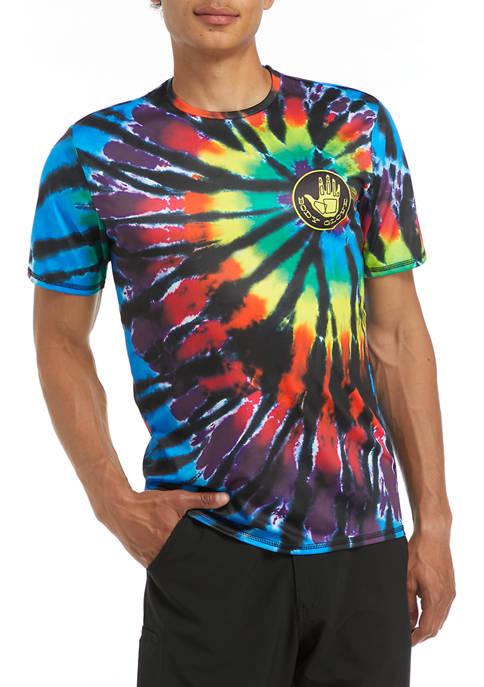 Short Sleeve Windmill Tie Dye Swim T-Shirt