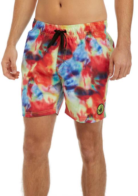 Body Glove® Mens Bright Marble Tie Dye Swim