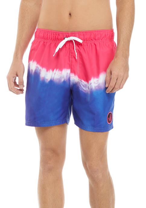 Body Glove® Border Tie Dye Swim Shorts