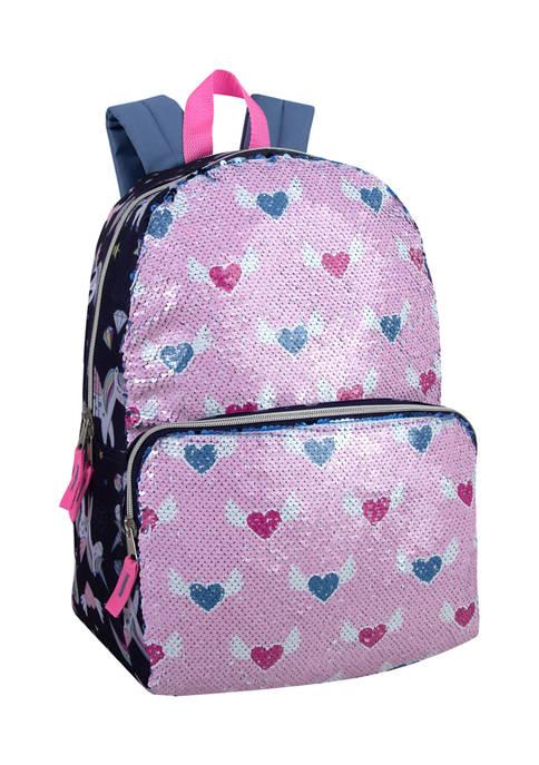 Unicorn Heart Flap Backpack