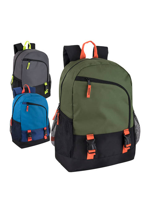 Asymmetrical Zipper Backpack with Double Clips