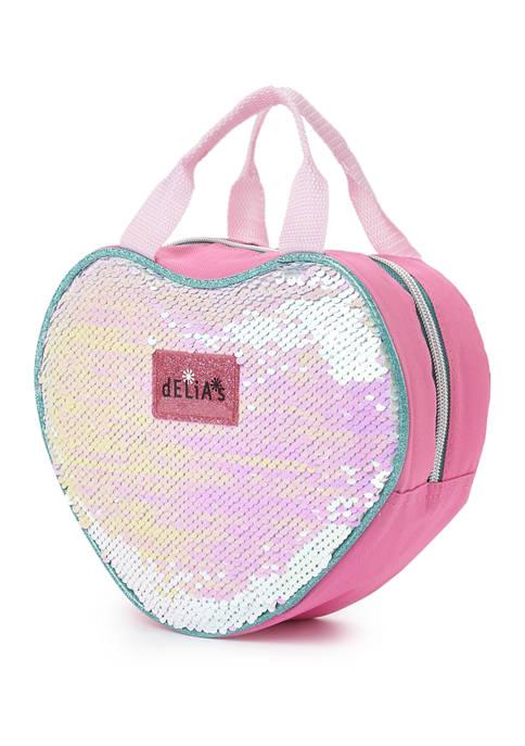 Delias Heart Flip Sequin Lunch Bag