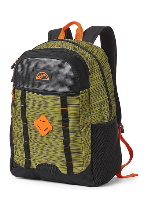 Green Heather Double Daisy Chain Backpack