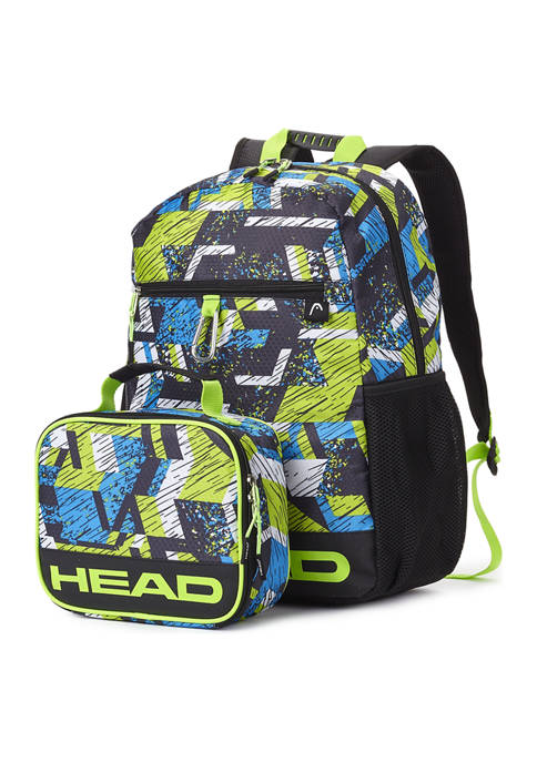 Head 3-Piece Backpack, Lunch Bag, and Carabiner Clip Set