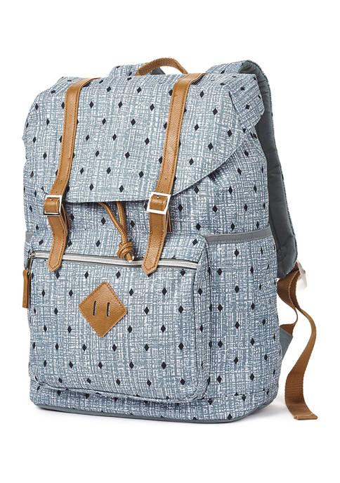 Diamond Dot Flap Backpack