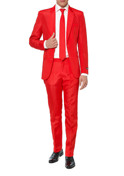 Solid Red Color Suit