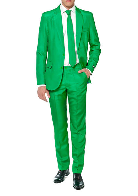 Solid Green Color Suit