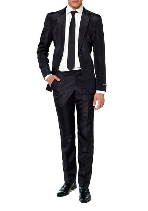 Suitmeister Solid Black Color Suit
