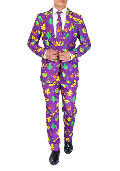 Suitmeister Mardi Gras Purple Icons Suit