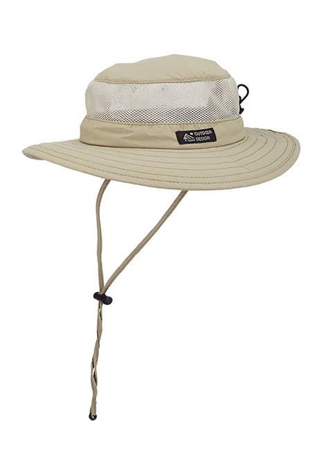 Supplex Big Brim Hat with Mesh Sides