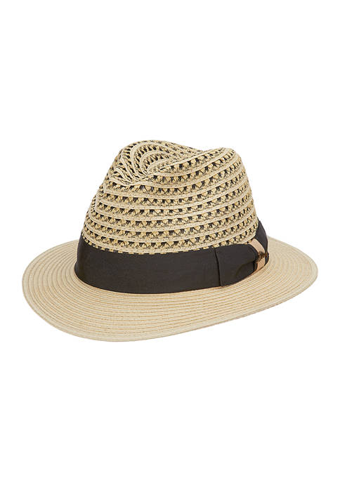 Two Tone Braided Safari Hat