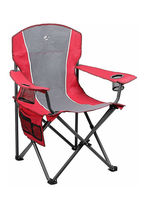 Alphacamp Portable Oversize Camping Arm Chair With Storage