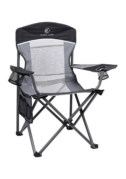 Portable Oversize Mesh Camping Chair With Storage Bag