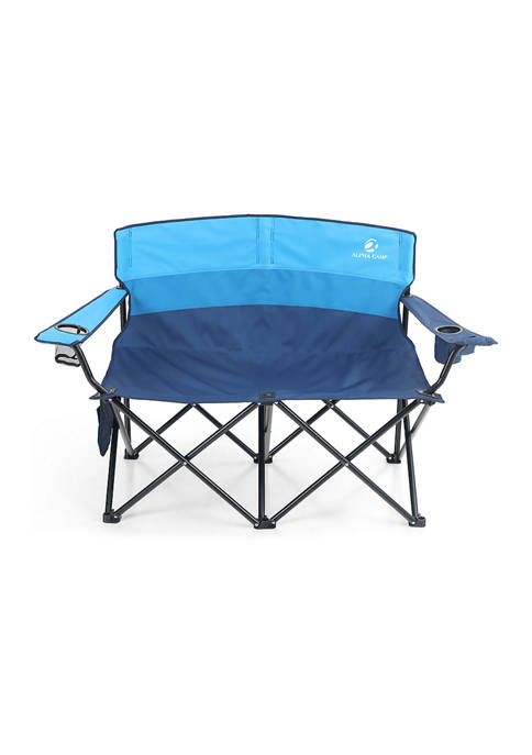 Alphacamp Portable Double Seat Oversized Camping Chair Support