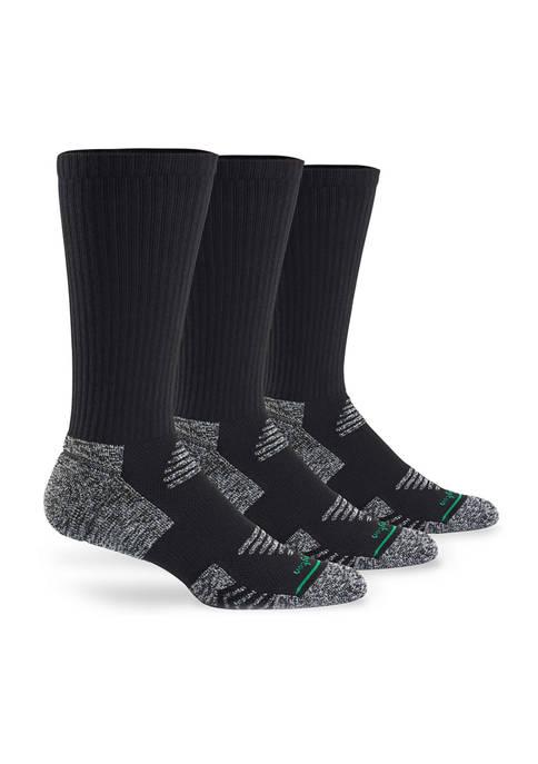 Burlington Mens Active 3 Pack Crew Socks