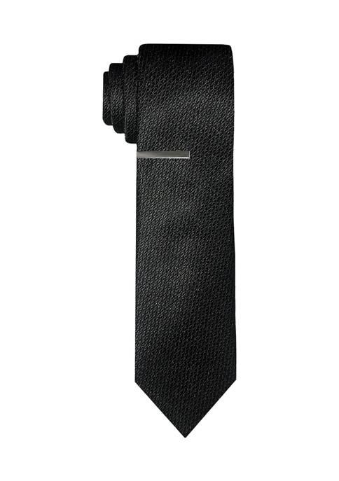 Natte Tonal Solid Tie with Tie Bar