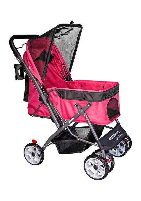 Pet Stroller with Zipperless Entry & Reversible Handle
