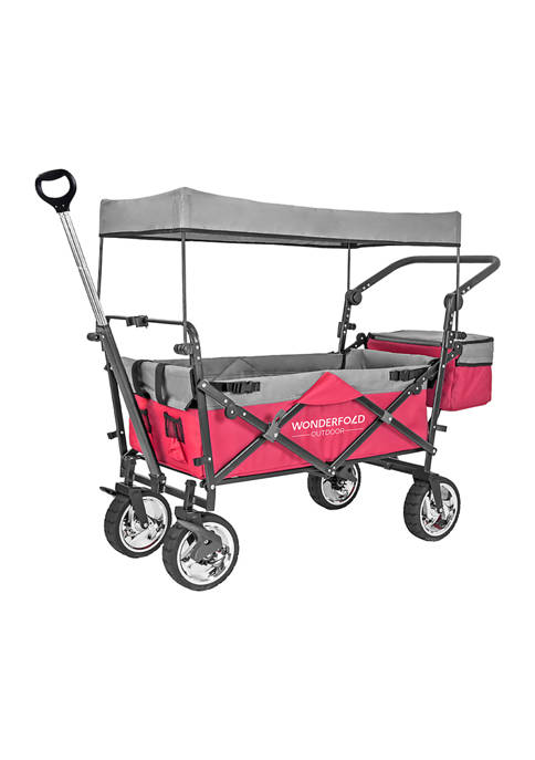 Push & Pull Outdoor Wagon with Canopy
