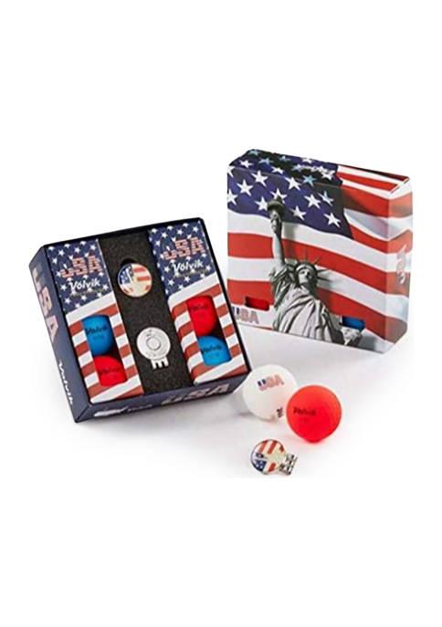 Vivid USA  Balls with Ball Marker Hat Clip